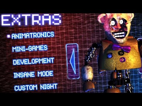 EXTRAS MENU AND SECRET ANIMATRONICS! || FredBear's Fright (Five Nights at Freddys)