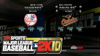 MLB 2K10 (Wii) Orioles vs. Yankees