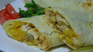 Arabic Shawarma Recipe | Chicken Shawarma Recipe at Home | Homemade chicken Shawarma