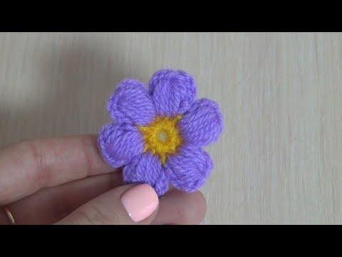 Вязание цветов крючком для начинающих мастер класс