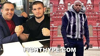 KHABIB HOLDS MAYWEATHER MEETING; LOBBIES FOR SHOWDOWN IN MOSCOW IN FRONT OF 100,000 FANS