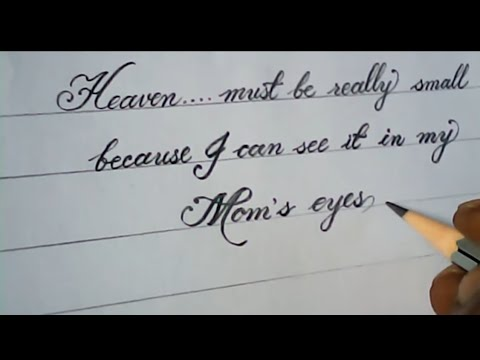How to write impressive hand writing with pencil | pencil calligraphy
