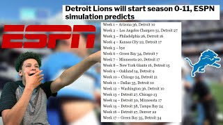 ESPN is already WRONG! Lions Starting 0-11?! Detroit Lions Talk