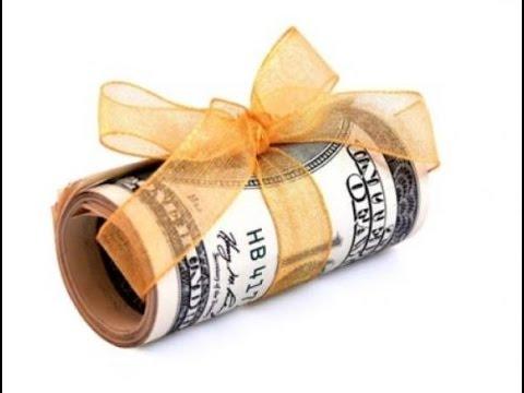 Как оригинально подарить деньги. - YouTube