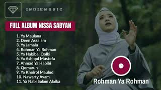 Download lagu Nissa Sabyan Full Album 2018 Rohman Ya Rohman Mp3 MP3