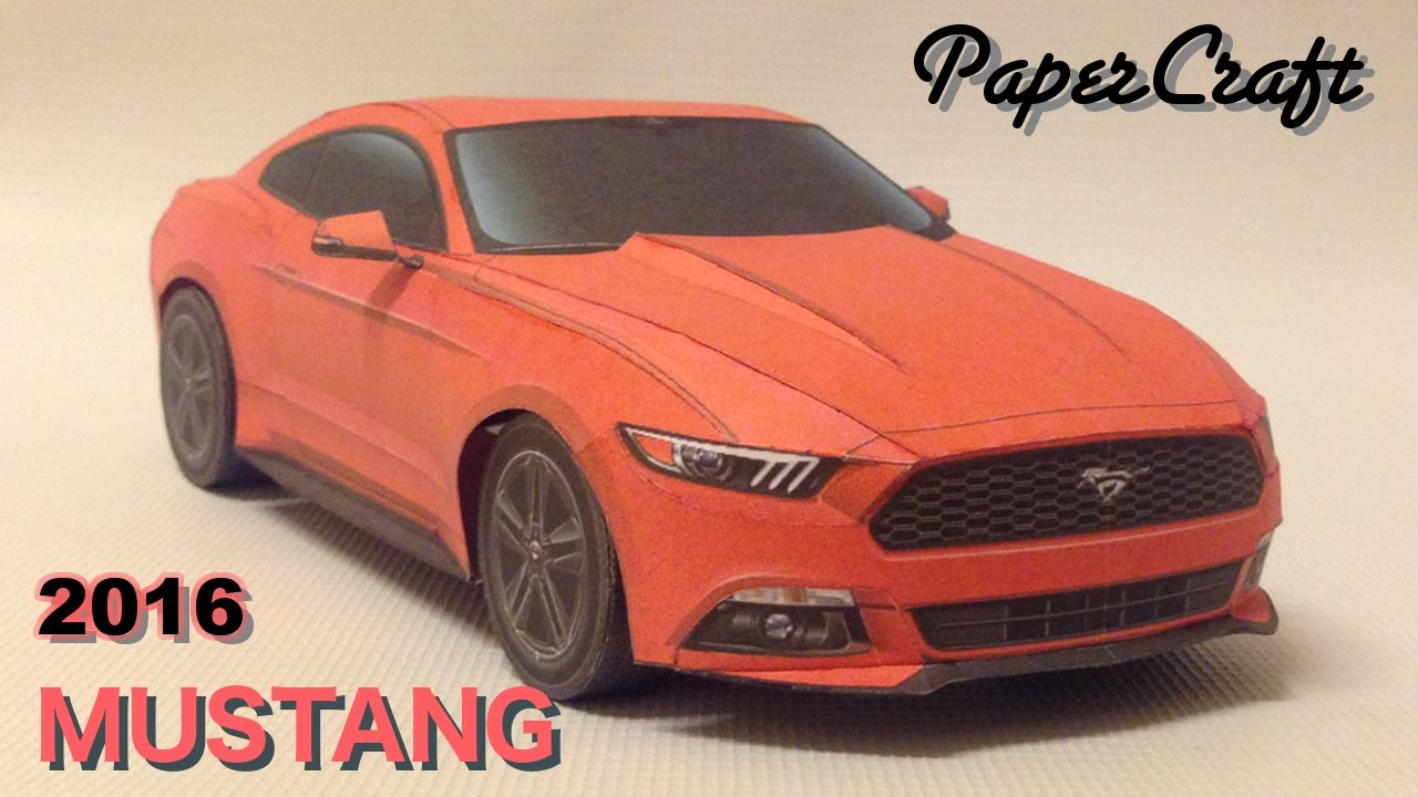 Making The Ford Mustang 2016 Papercraft Youtube