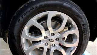Замена передних тормозных дисков Range Rover Evoque Ленд Ровер Эвок 2,2 2011 года