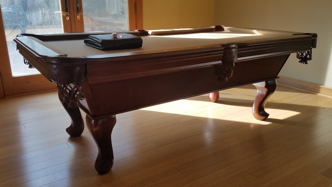 Solid Ft Tiburon Teak Pool Table With Camel Felt YouTube - Tiburon pool table