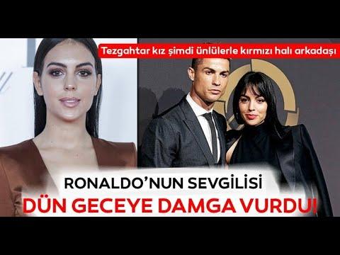 Cristiano Ronaldonun sevgilisi Georgina Rodrigues gala gecesinde büyüledi