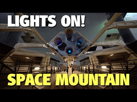 Lights on in Space Mountain | Magic Kingdom