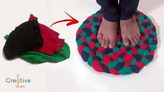 पुराने लेग्गिंग से doormat या चटाई बनाने? | how to make doormat with old leggings