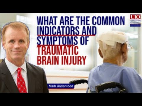What are the common indicators and symptoms of traumatic brain injury?