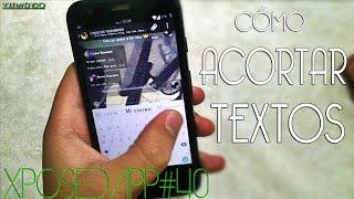 XPOSEDAPP#40-Acortar grandes textos en palabras o letras