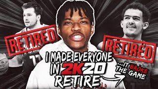 i made every nba player retire in nba 2k20 and it broke the game