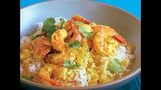Goan Shrimp Curry & Coconut Rice