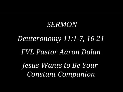 10/14/2018 Sermon - Aaron Dolan of Fox Valley Lutheran High School