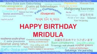 Mridula   Languages Idiomas - Happy Birthday
