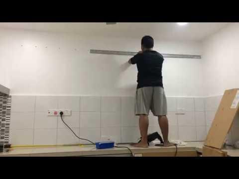 diy ikea metod suspension rail galvanised youtube. Black Bedroom Furniture Sets. Home Design Ideas