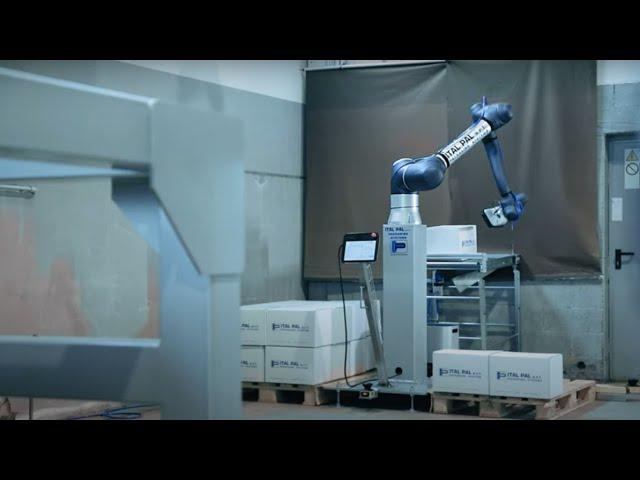 CO-pallettizzatore fino a 20kg con cobot Doosan Robotics