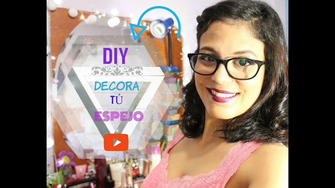 diy decora tu espejo luces de camerino youtube