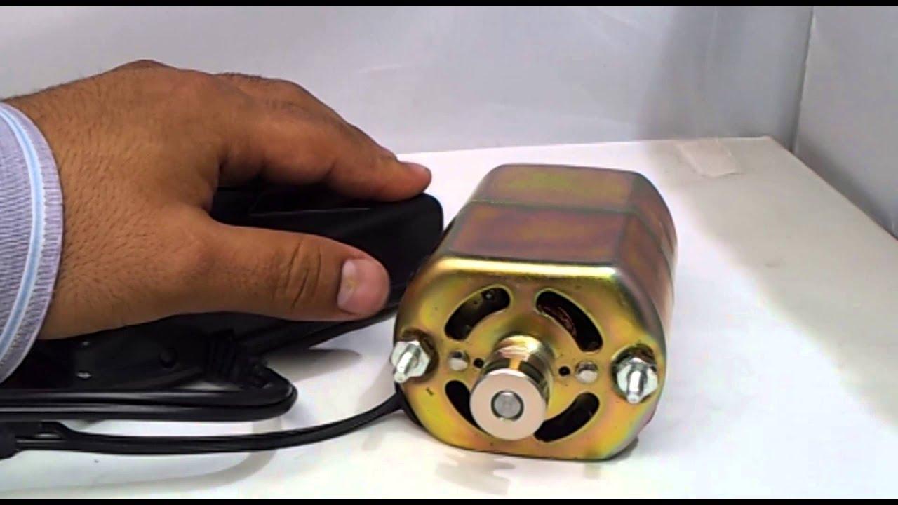 Motor universal con pedal de control de velocidad para