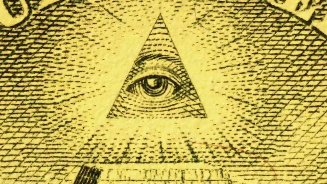 Creepy $1 pyramid eye (animated blinking) macro video slow
