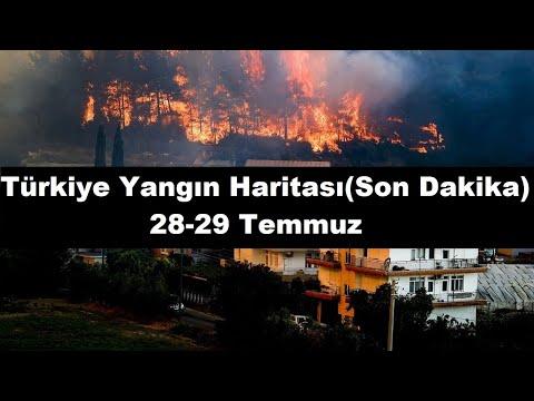 Son dakika- Türkiye yanıyor !! Hala orman yangını yaşanan illerimiz hangileri?