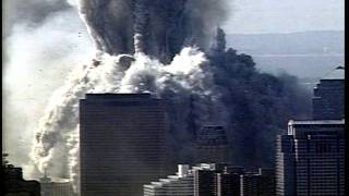 WTC Tower 1 collapse - ABC chopper, raw footage