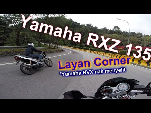Yamaha rxz membalap di litar rakyat Genting Highland | merempit secara berhemah | 2 stroke power