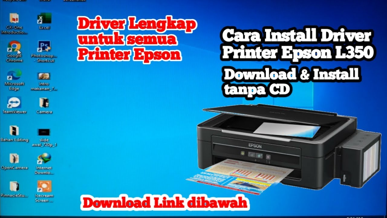 Cara Install Driver Printer Epson L350 Youtube
