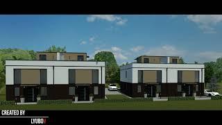 Дом на две семьи. Дизайн-проект. Фасад.