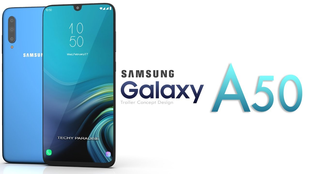Samsung Galaxy A50 design
