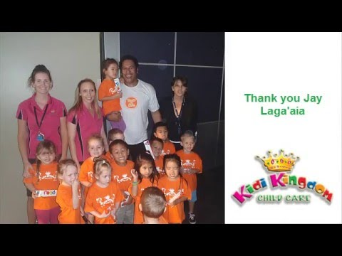 Jay Laga'aia says kindy counts!