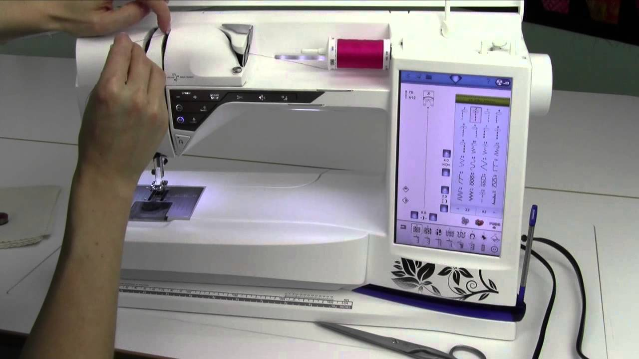 Husqvarna Viking Designer Diamond 3 Machine Set Up Threading Tutorials On Winding Your Bobbin And Sewing A Youtube