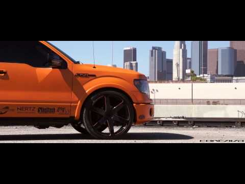 Matte Orange Ford F150 on CW-6's in Sunny California | Concavo Wheels | SS Motorsports