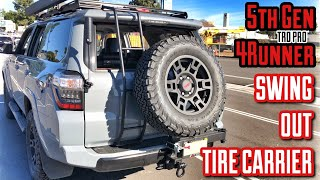 【44】Swing-Out Rear Tire Carrier Hitch Off-Road | Install | 5th Gen 4Runner Mod [4K]