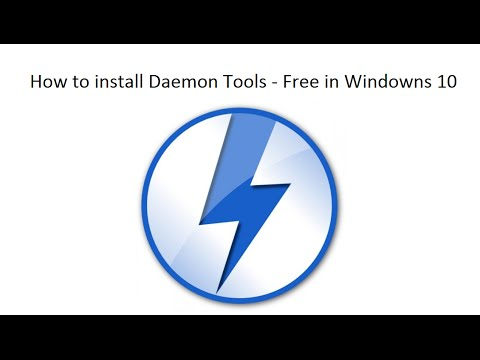 How to install Daemon Tools Free in windowns 10