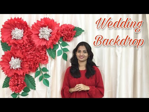 Paper Flower Backdrop Decoration for Birthday, Wedding, Engagement, Proposal & Love