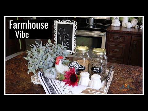 Summer Kitchen Vignette 2019 | Decorate with Me Farmhouse Kitchen Decor