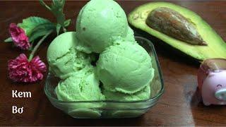 Cách Làm KEM BƠ Siêu Ngon Tại Nhà| Kem Trái Bơ Mềm Mịn Không Bị Dăm Đá |Bếp Nhỏ | Avocado Ice Cream