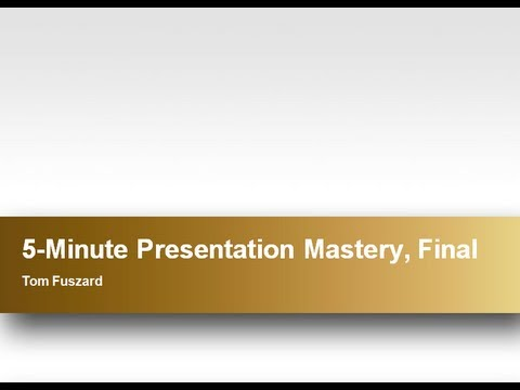 ~ Free Watch Presentation Skills Mastery
