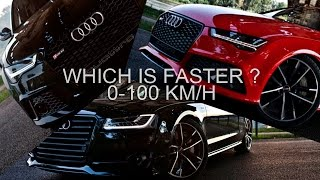 3x605hp smackdown! Which is faster? RS6/7 Performance or S8 Plus (2017)