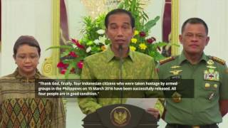 4 Indonesian hostages released by Abu Sayyaf