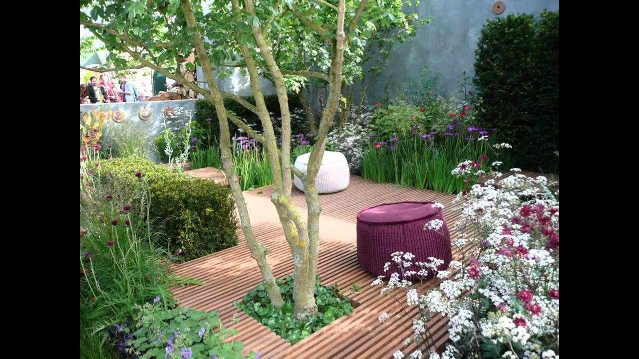 Small courtyard garden design ideas - YouTube
