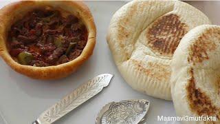 Ekmekli Güveç Kapama Yemeği Tarifi  |Bazlama yapımı |Ramazan Tarifleri▪Masmavi3mutfakta▪