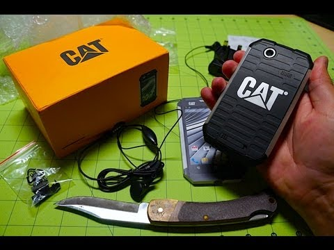 CAT B15: rugged Android smartphone unboxing
