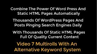 OTP Combining WP With HTML Pages Using Organic Traffic Platform Hybrid Video 7