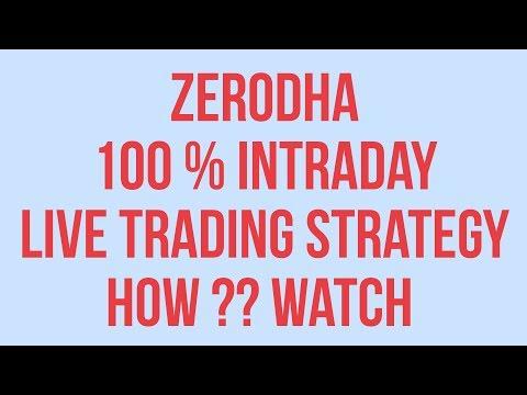 Zerodha trading strategies