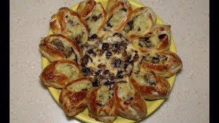 Супер праздничный пирог с картошкой и грибами! Очень вкусно!