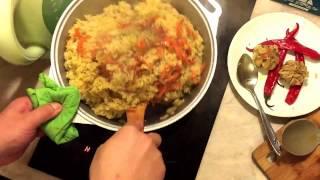 Кухня. Как приготовить вегетарианский плов. Просто и вкусно.